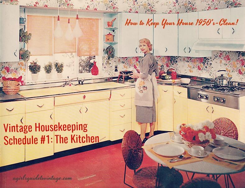 housekeeping schedule kitchen