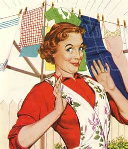 Image result for housewife cleaning vintage